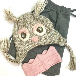 Girls Owl Hat NWOT